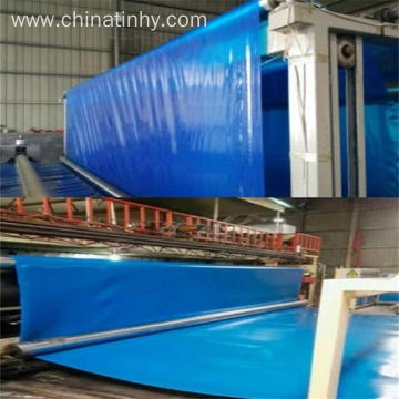 High density blue color Polyethylene geomembrane